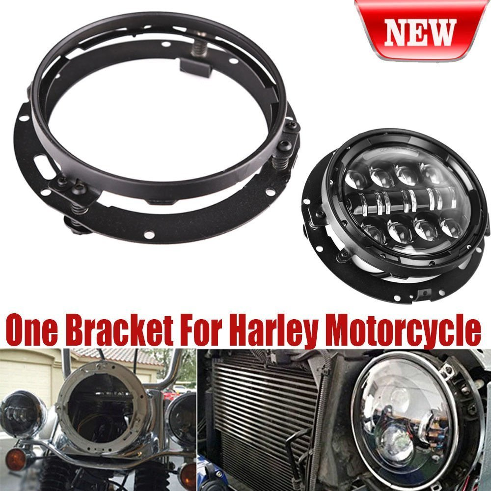 "SUPAREE 7 Inch Round Mounting Bracket Ring Mount Brackets for Harley Davidson 7/"" LED Headlight"