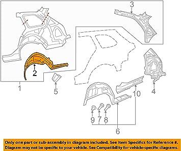 Volkswagen VW OEM 05-14 Jetta Quarter Panel-Outer Wheel Well Right 1K5809410