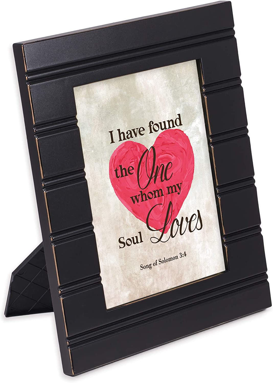 Cottage Garden The One My Soul Loves Black Beaded Board 5 x 7 Table Top and Wall Photo Frame