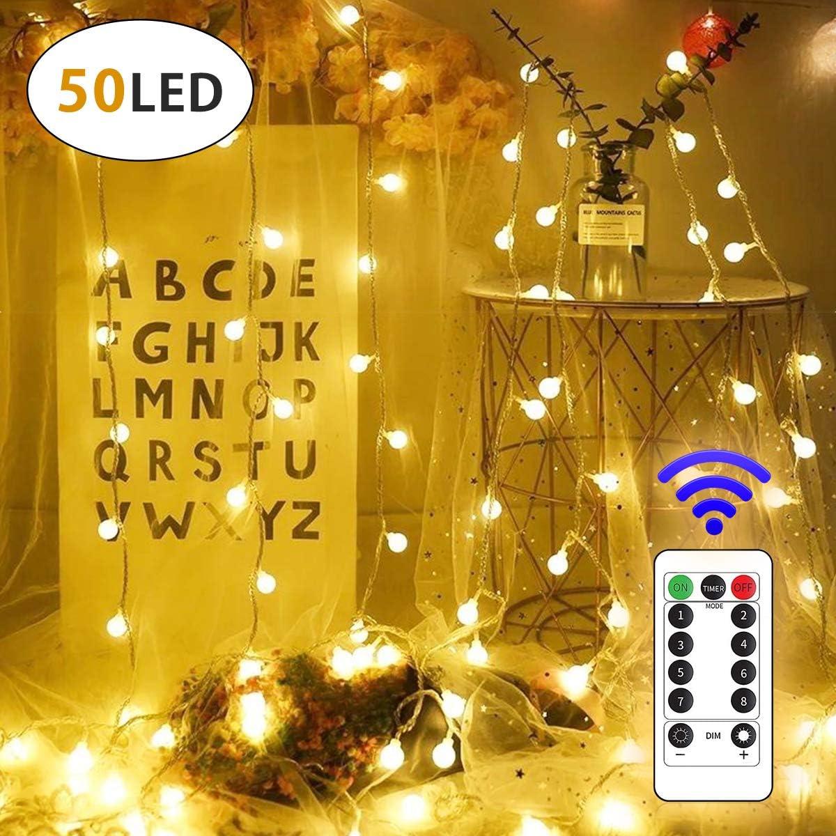 Lamantt 50 LED 19.7 FT Globe String Lights Twinkle Lights USB Plug WAS £15.99 NOW £7.99 w/code 3E3RTBFC @ Amazon