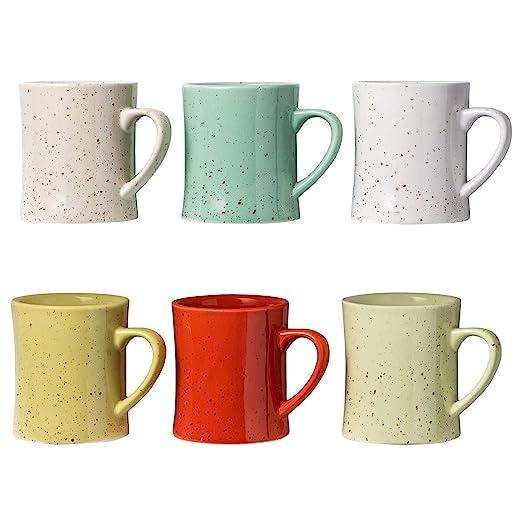 Tazas de Café de Cerámica Vintage - Juego de 6 Tazas de Café ...