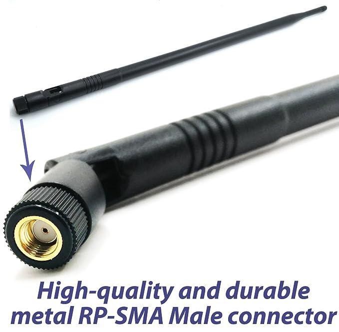 2 x 9dbi WiFi High Gain Omni Directional RP-SMA Antennas for Buffalo WZR-HP-G450
