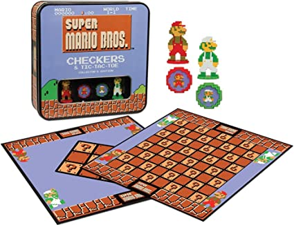 Super Mario Bros Checkers & Tic-Tac-Toe Collectors Edition Board Game by USAopoly: Amazon.es: Juguetes y juegos