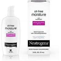 Neutrogena Oil Free Daily Long Lasting Facial Moisturizer & Neck Cream - Oil Free Moisturizer Won't Clog Pores with SPF…