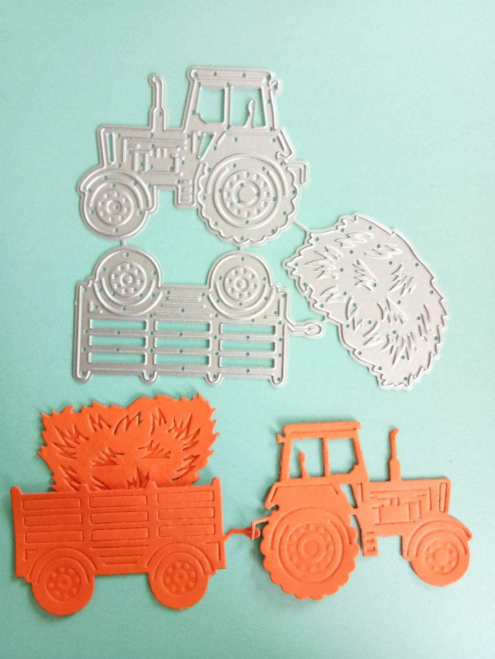 Metal Cut Cutting Dies Mold Tool Farm Vehicles Stitched Handmade Diy Craft Scrapbooking Scrapbook Stamps Embossing Die Making Stencil Template