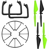 Potensic Hélices 4 Cuchillas + 2 Trípode + 4 Marco Protectores para Drone U42 Cuadricoptero Quadcopter