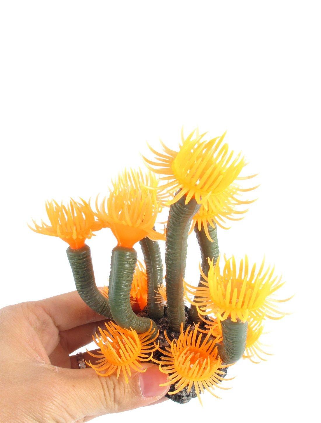 Amazon.com : eDealMax Emulación de plástico acuario acuático Coral Planta Decoración 4, 7 pulgadas de Orange : Pet Supplies