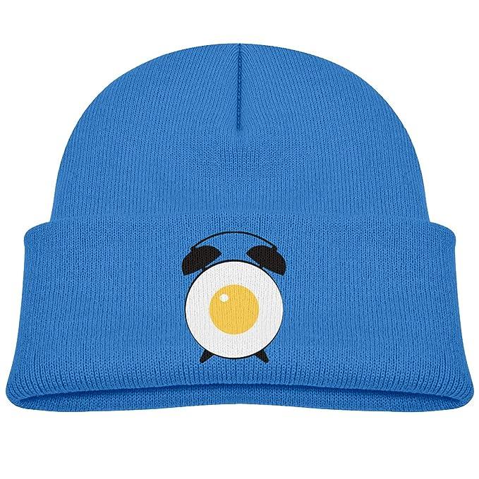 97896eaae Amazon.com: Funny Egg Alarm Clock Baby Boy Skull Caps Knit Hats ...
