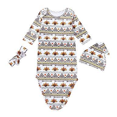Amazon Com Callm Newborn Baby Girl Swaddle Sleeping Blanket