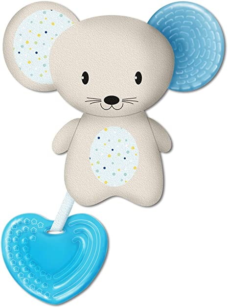 Chicco Fresh Friend - Mordedor y muñeco 3en1, 4 m+, azul: Amazon ...