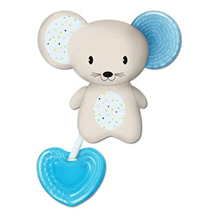 Chicco Fresh Friend - Mordedor y muñeco 3en1, 4 m+, azul ...