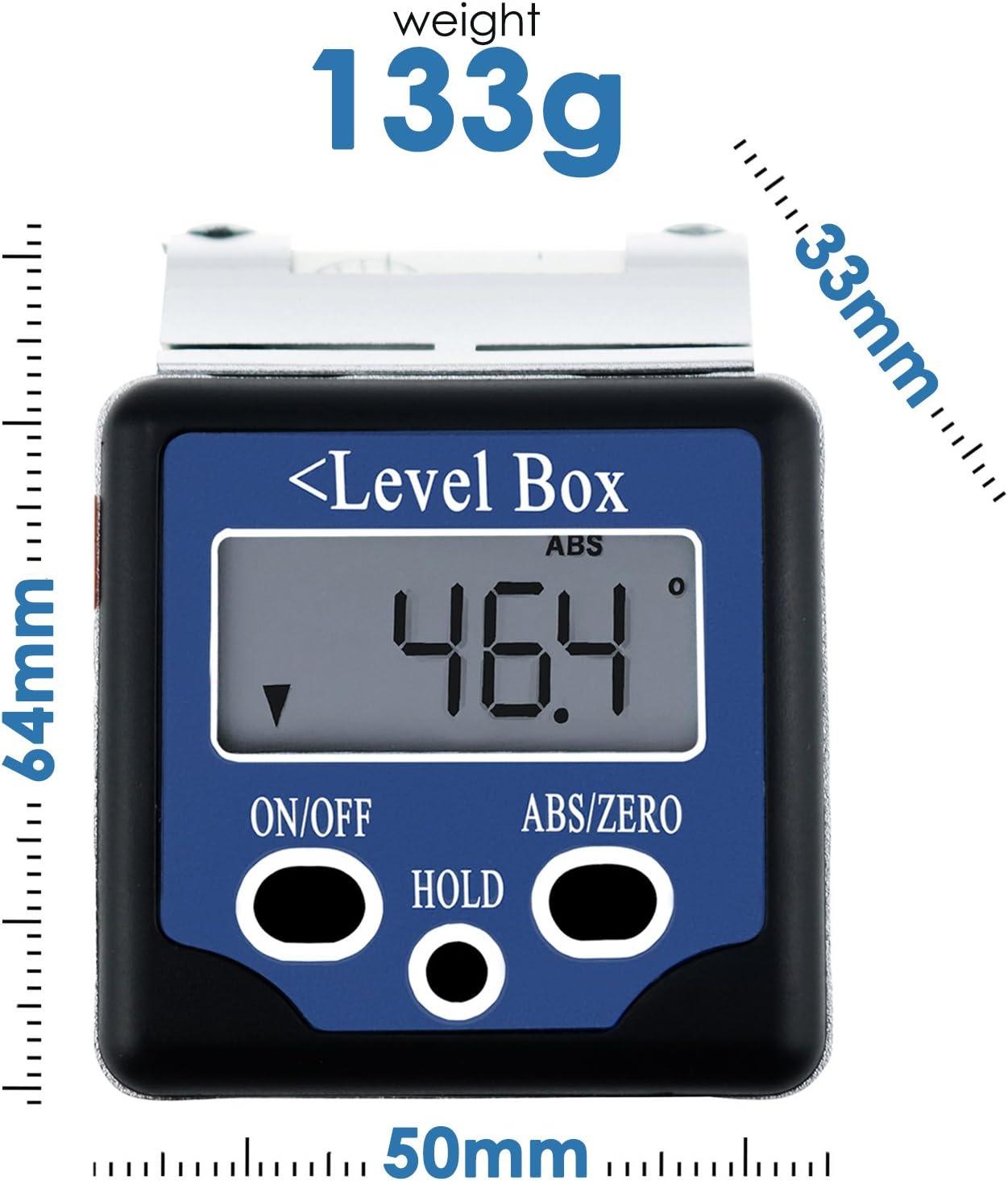Electronic Spirit Level Magnetic Digital Protractor Angle Finder Meter Gauge