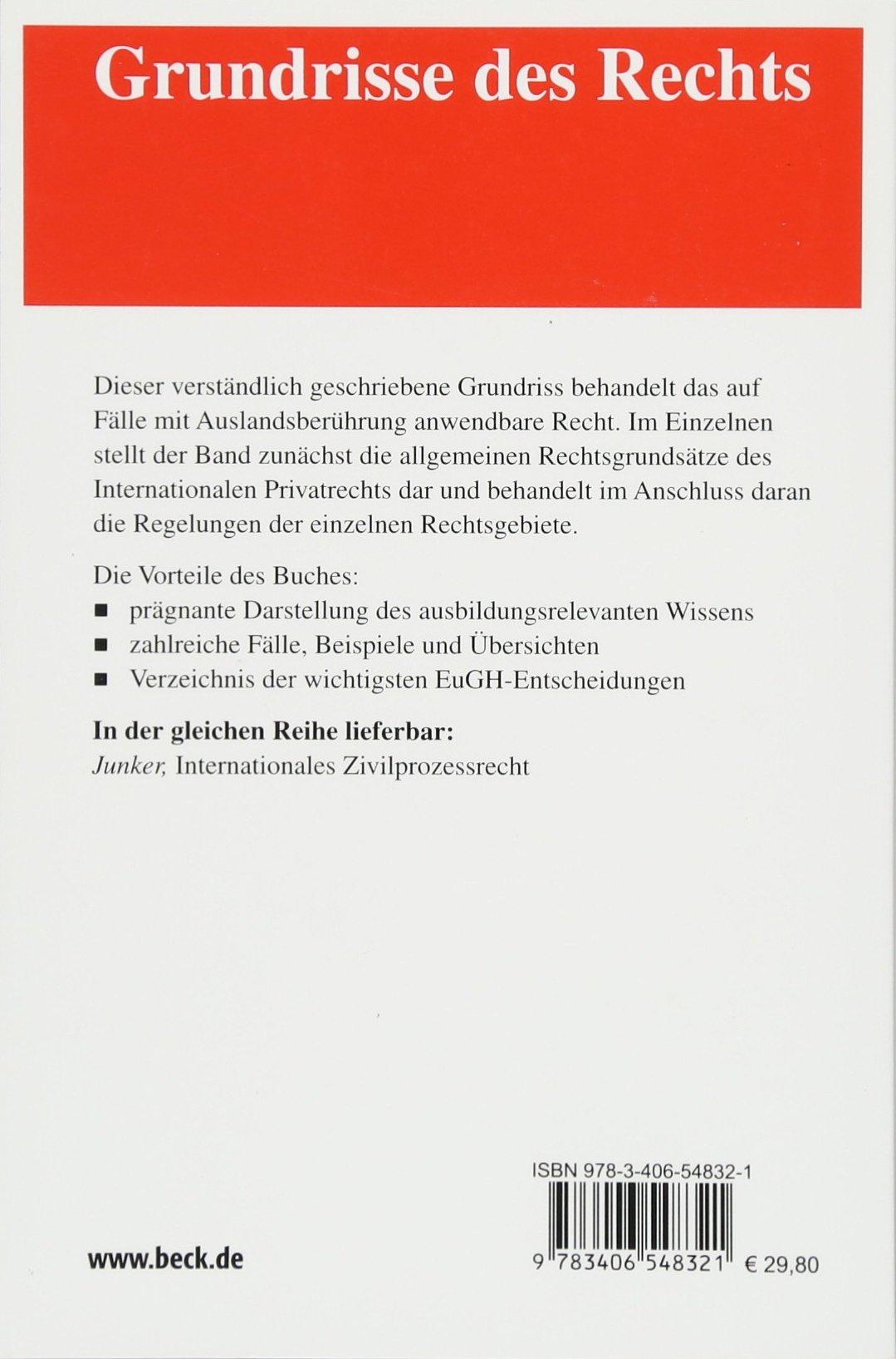 Internationales Privatrecht: 9783406548321: Amazon.com: Books