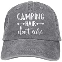 f16ebc2d551d3 Splash Brothers Customized Unisex Camping Hair Don't Care Vintage  Adjustable Baseball Cap Denim Dad