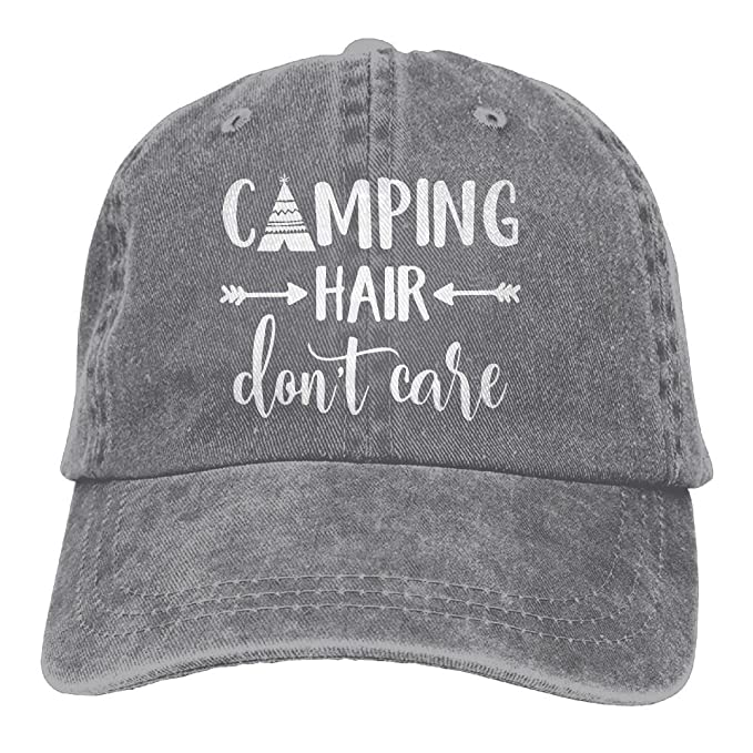 Camping Hair Don't Care Baseball Cap