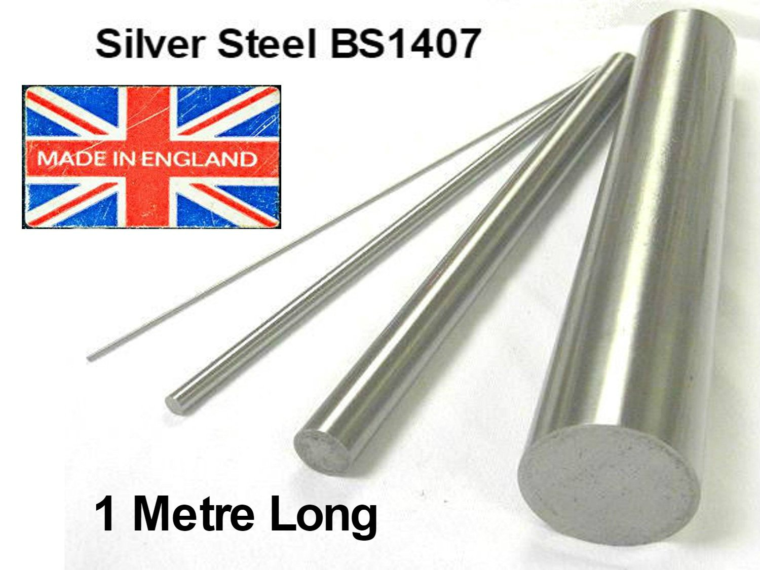 4.5  mm di diametro x 1  metre (1000  mm) Long Silver Steel bar. Precisione metrica asta albero. BS1407 Rennie Tool
