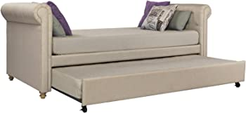 DHP Sophia Upholstered Classic Design Twin Size Daybed and Trundle