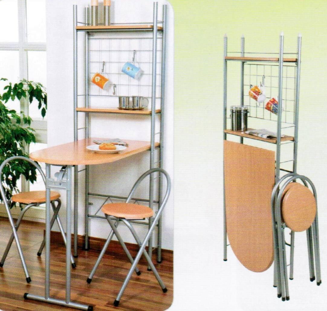 Küchenbar auf Rollen + 2 Hocker Küchentisch klappbar Tresen Tisch ...