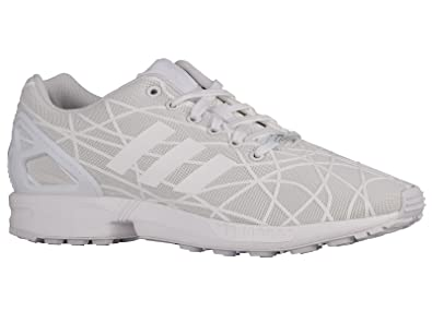 best authentic ec8e9 3aa3a Amazon.com | Adidas Men's ZX Flux White/White/White ...