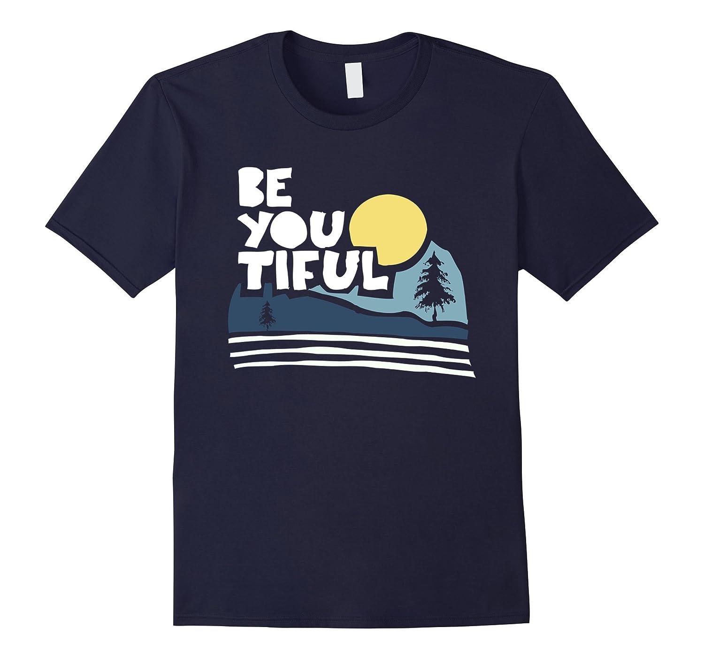 Be You Tiful Beautiful Moon Tree Outdoor Graphic Tee Shirt-T-Shirt