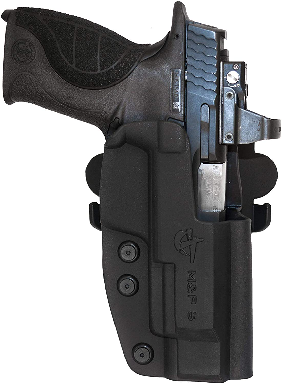"COMP-TAC.COM International Holster S&W - MP M1.0, M2.0, 5"" 9mm/40/45 Pro/CORE - Right - Black (Belt, Paddle, Drop Offset)"