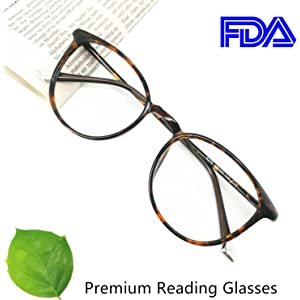 21c7dd887b8 Reading Glasses Round Computer Readers for Women Men Eyeglasses Frames for  Prescription Lens
