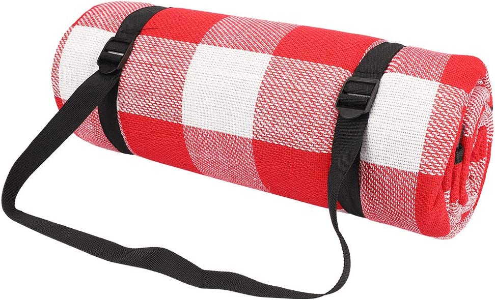 SKYSPER Picnic Blanket Large Outdoor Carpet Mat Waterproof Foldable Camping Tote Light Compact Oversized Rug
