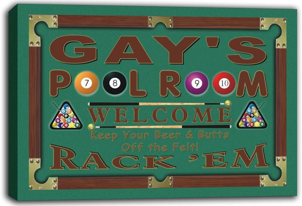 scpy1-1774 Gay es sala de billar bola 8 muestra impresión DE ...