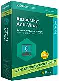 Kaspersky Antivirus 2018 | 1 Poste | 3 Ans | Edition spéciale | PC | Téléchargement