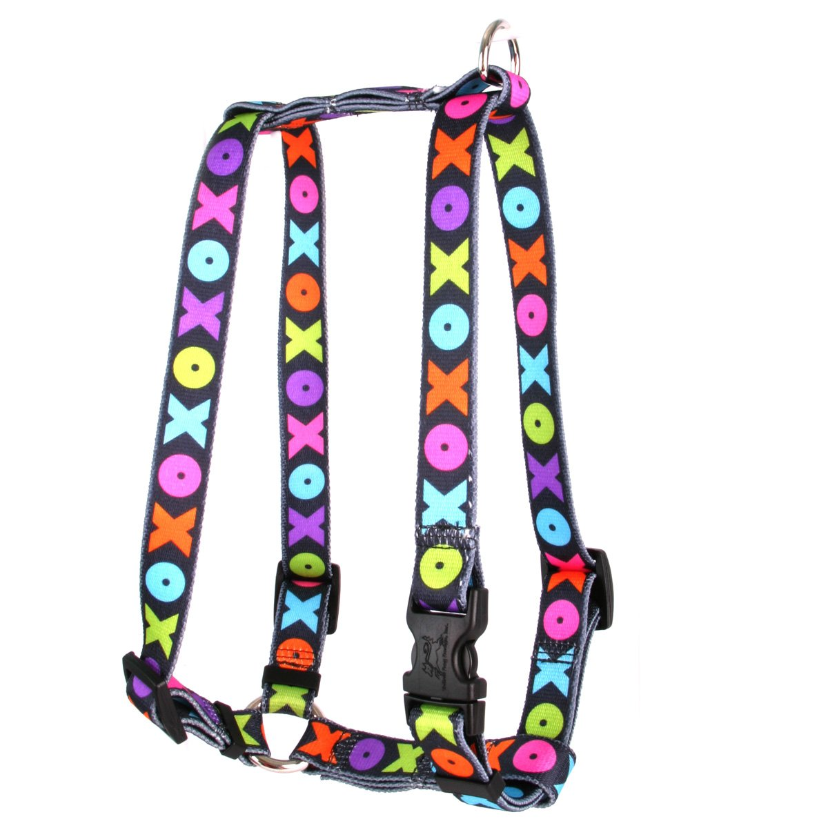 Yellow Dog Design Hugs and Kisses Roman Style H Dog Harness, X-Large/1'' Wide by Yellow Dog Design