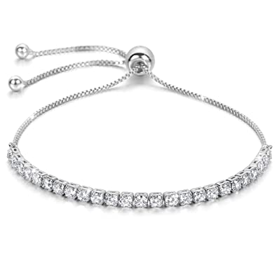 185da82d2f523 J.Fée Fine Jewellery Réglable Bracelet en Argent Sterling Bracelet 5A  Zircon cubique - Un