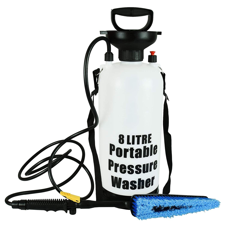 ASAB Garden Pressure Sprayer Knapsack Weedkiller Chemical Fence Hand Pump Water Spray Bottle - 5 Litre