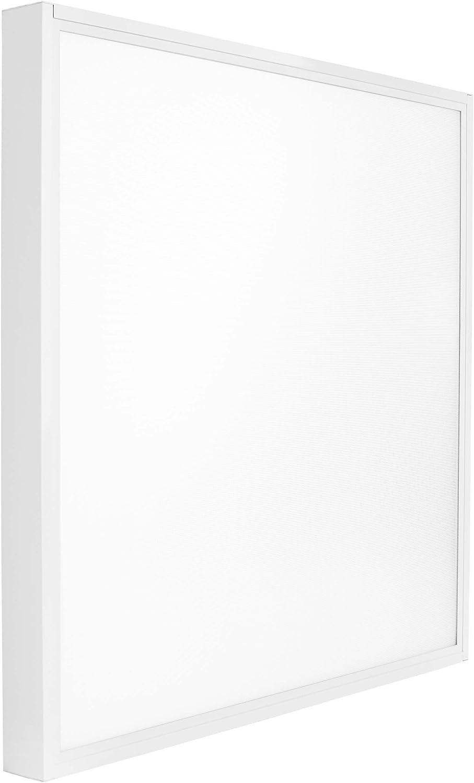 Panneau LED 62 x 62 cm, 50 W, blanc chaud, éclairage de construction, cadre encastré, sans éblouissement, avec transformateur