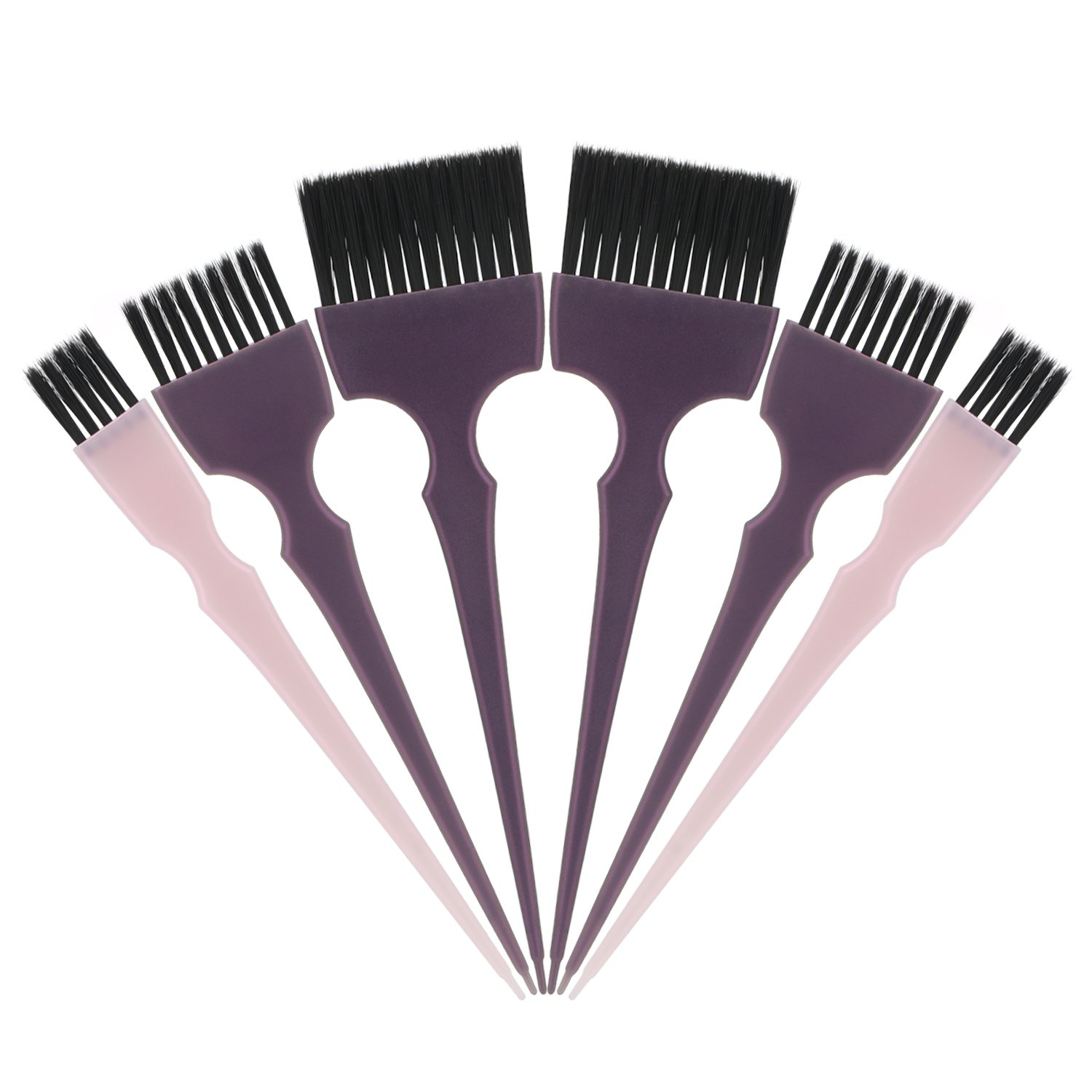 Segbeauty Hair Dye Brush, 6pcs Tint Brush Set Hair Coloring Brushes, Professional Hairdressing Tinting Brush Color Applicator Brush, Hair Bleach Styling Brush for Hair Dyeing Balayage