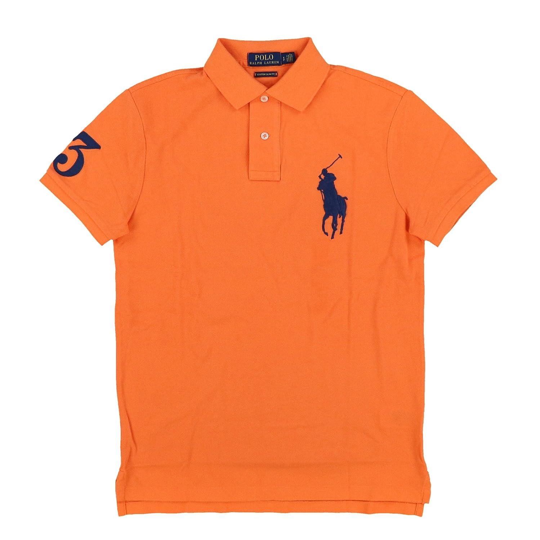 f1f63fe2 Polo Ralph Lauren Mens Big Pony Custom Slim Fit Mesh Polo Shirt at Amazon  Men's Clothing store: