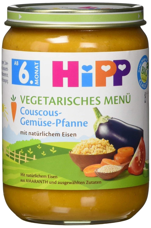 HiPP Vegetarisches Menü Couscous-Gemüse-Pfanne, 1er Pack (1 x 190 g) 2274250-6 Babynahrung Pantry