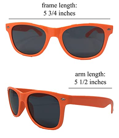 6fbbba409d Orange Sunglasses Wayfarer Retro Fashion Style Party Favors For Women Men  Adults Kids Better Quality UV