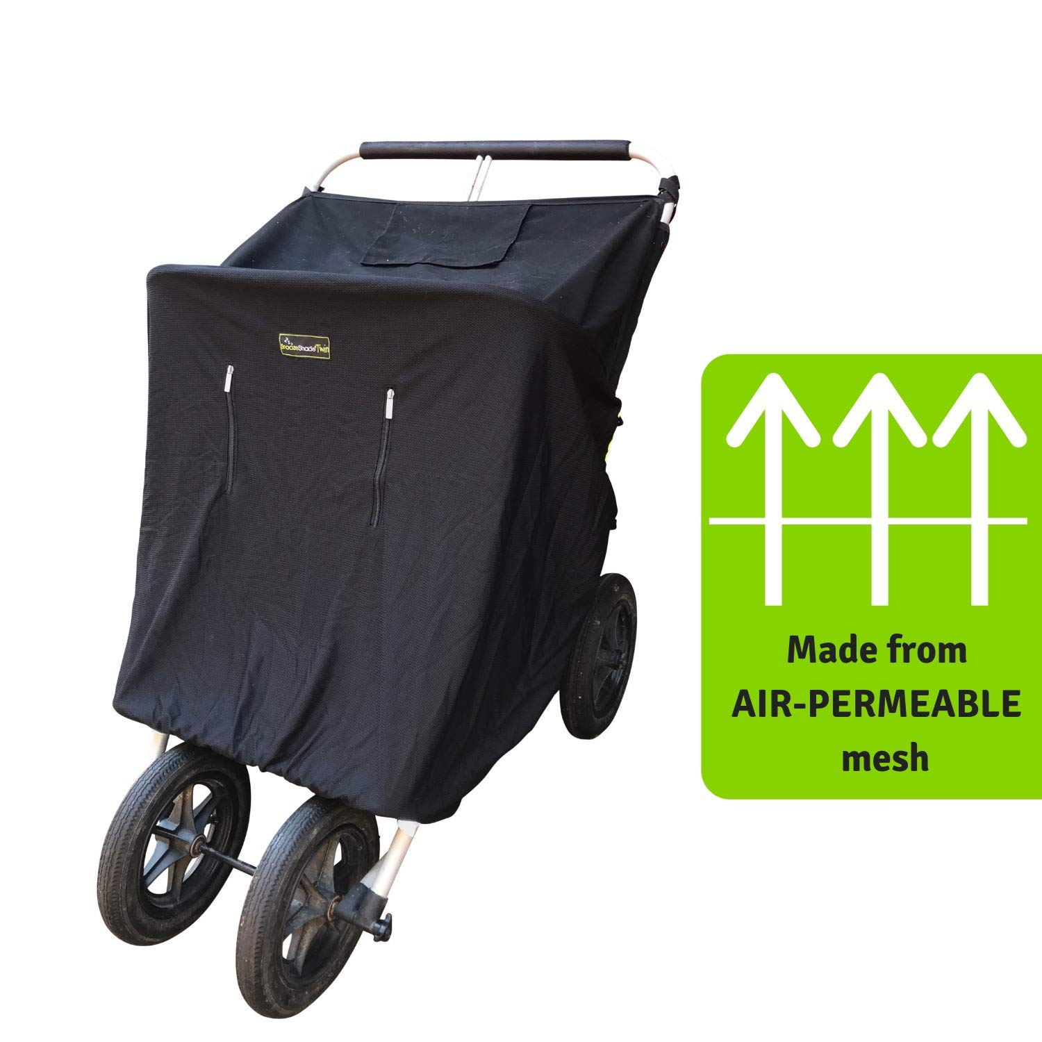 Double Stroller Cover & Sun Shade | Award-Winning Blackout Blind and Baby Sleep Aid | Stops 99% of The Sun's Rays | Lets Your Babies nap Safely Anywhere | Universal Fit | SnoozeShade Twin by SnoozeShade (Image #6)