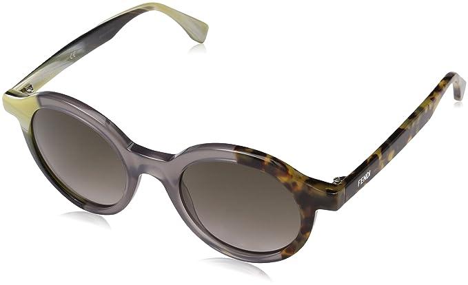 Fendi Damen Sonnenbrille FF 0066/S HA Ner, Beige (Beige Olive Grey Havana/Brwn Sf), 48