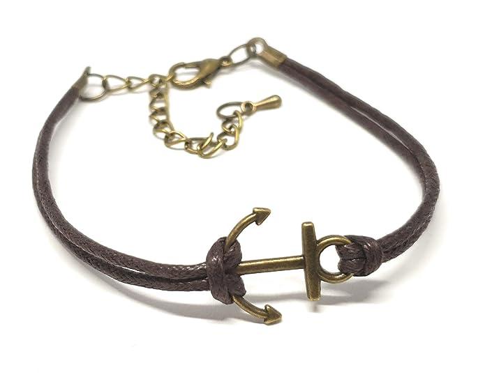 Anker-Armband (braun/gold)