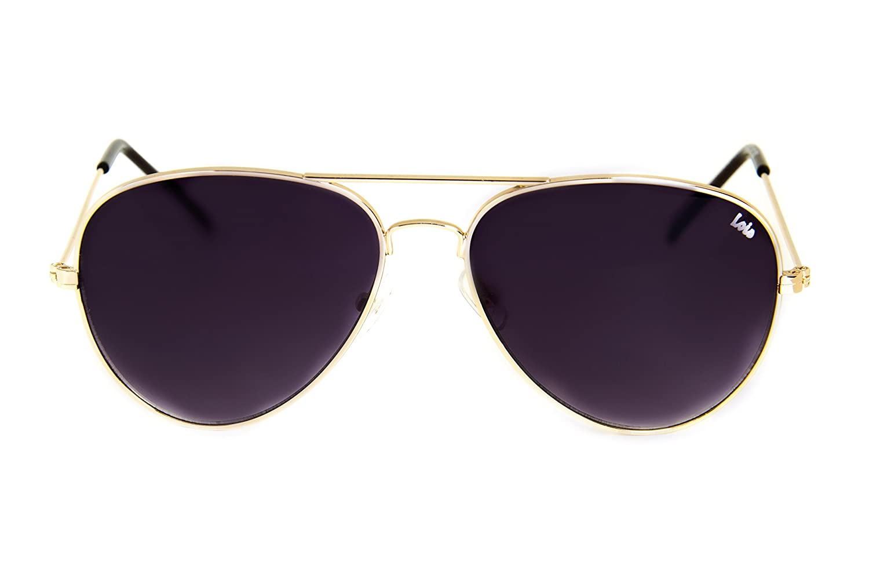 Lois - Flyer MG2, Gafas de Sol Moda Unisex Metal, Dorado ...