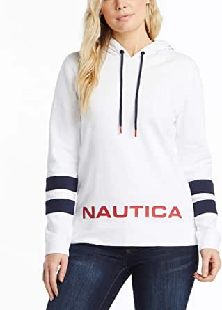 NAUTICA Women's Classic Supersoft 100% Cotton Pullover Hoodie