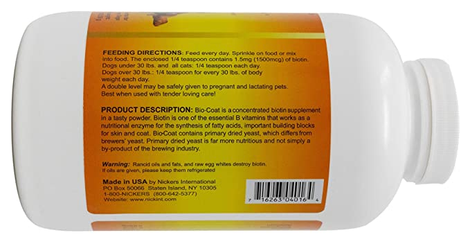 Amazon.com : Bio Coat Concentrated Biotin Supplement - 16 oz : Pet Fish Oil Nutritional Supplements : Pet Supplies