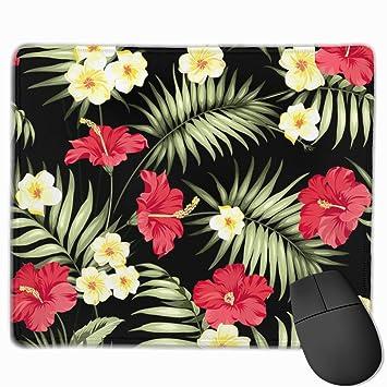 Alfombrilla de ratón con diseño de Flores Tropicales Hawaianas y ...