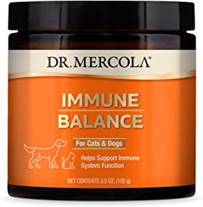 Dr. Mercola, Immune Balance, for Cats and Dogs, 3.5 oz. (102 g), Supports Liver and Digestive Health, with Bovine Colostrum, Non GMO, Soy-Free