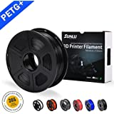 SUNLU PETG 3D filament 1.75mm 1KG(2.2lb), PETG 3D Printer Filament, Dimensional Accuracy +/- 0.02 mm, 1 kg Spool, 1.75 mm, Black PETG