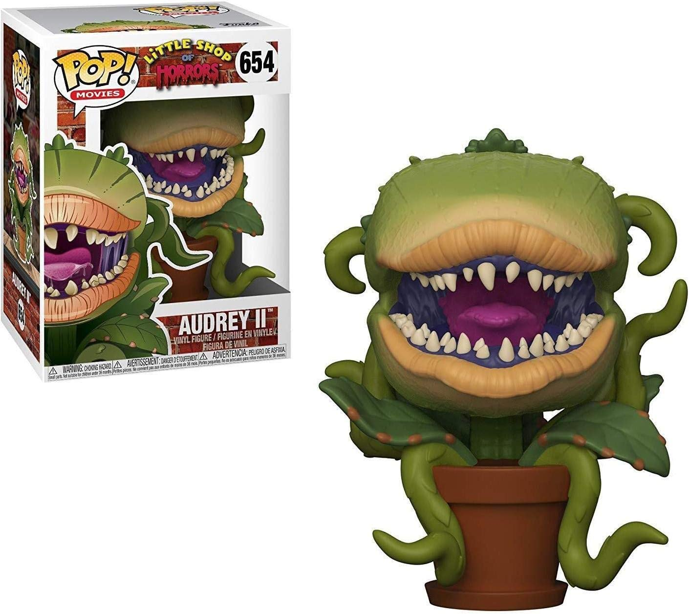 Funko Pop Movies: Little Shop of Horrors - Audrey Ii (Styles May Vary) Collectible Figure, Multicolor