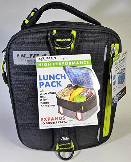 c499ba206f Amazon.com  Expandable Lunch Pack Ultra Arctic Zone Bento Containers ...