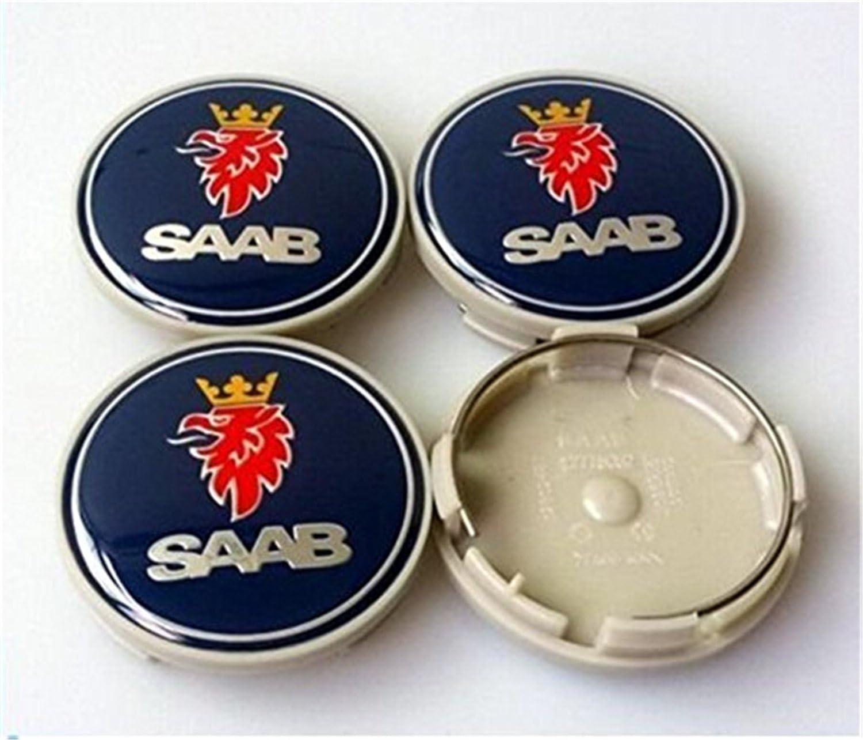 Set Von 4 Saab Alloy Rad Hub Center Caps Saab 63mm Radkappen 63mm Auto