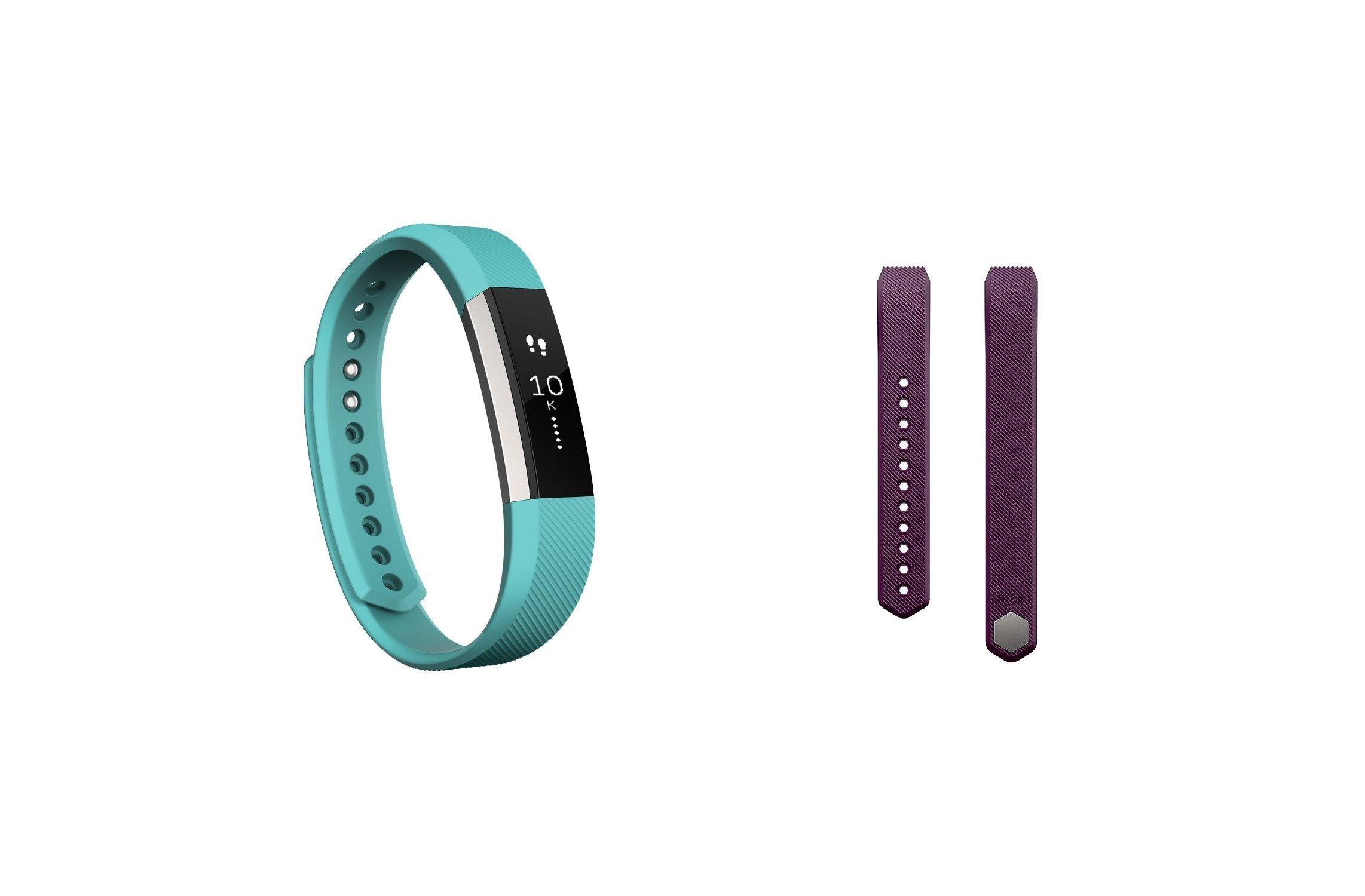 Fitbit Alta (Teal, Large) + Accessory Band (Plum, Large)